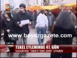 protesto - Tekel Eyleminde 41. Gün
