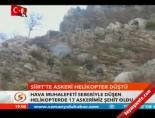 askeri helikopter - Siirt'te askeri helikopter düştü