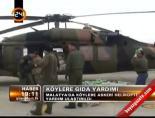 askeri helikopter - Malatya'da köylere askeri helikopterle yardım ulaştırıldı