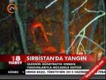 sirbistan - Sırbistan'da yangın