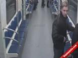 Metroda Irkçı Saldırı Kamerada