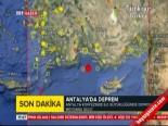 deprem ani - Antalya Körfezi'nde 6,0 Büyüklüğünde Deprem!
