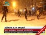 Kar Tatili Olan İller ve İlçeler - 09.12.2013