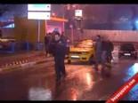 Durağı Bastılar Kaçarken Taksiciyi Ezdiler