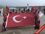 Silivri'de Göstericilerin Yıktığı Tel Örgü Onarılıyor
