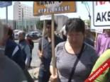 2B Mağduru Köylüler Defterdarlık Önünde Eylem Yaptı