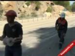 Bursa İnegöl'de Yol İçin Dinamit Patlattılar
