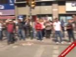 Şişli'de Polise Taşlı Saldırı