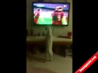 Letonya Türkiye Maçı Fanatik Köpeği Hop Oturuptup Hop Kaldırdı