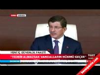 icisleri bakanligi - Ahmet Davutoğlu: Molotof bomba sayılacak