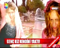 Gazinoda Çalışan Genç Kadın Abisinin Mezarı Başında Kendini Yaktı!