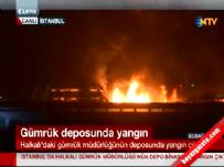 Halkalı Gümrüğü'nde yangın