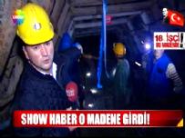 Show TV Ana Haber Ekibi Karaman Ermenek'teki Su Dolu Maden Ocağına İndi!
