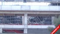 Bakan'ın ziyaret edeceği tesis inşaatında iskele çöktü