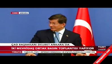 Ahmet Davutoğlu ile ÇAD Başkanı Kalzeube Payimi Duebet ortak basın toplantısı düzenledi