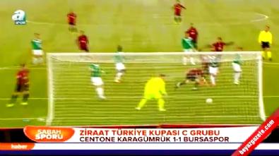 Centone Karagümrük Bursaspor: 1-1 Maç Özeti ve Golleri (Türkiye Kupası 17 Aralık 2014)
