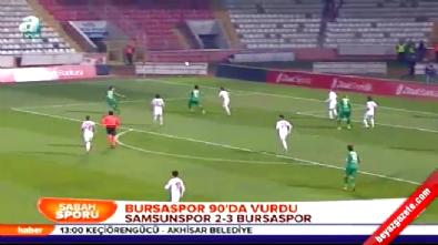 Samsunspor Bursaspor: 2-3 Maç Özeti ve Golleri (Türkiye Kupası 24 Aralık 2014)