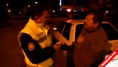 Alkollü Sürücü'den Polise 'Mutlu Oldun Mu?'
