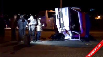 Niğde-Kayseri Karayolu Ditaş Kavşağında Otobüsle Kamyonet Çarpıştı: 1 Ölü 4 Yaralı