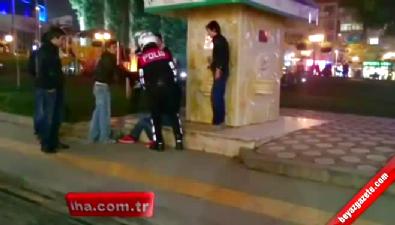Alkollü tacizciye sokak ortasında meydan dayağı