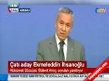 bakanlar kurulu toplantisi - Bülent Arınç'tan Ekmeleddin İhsanoğlu Açıklaması