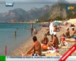 Havaların Isınmasıyla Plajlar Tıklım Tıklım Doldu