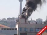 Ankara'da Bir Otelin Çatısında Meydana Gelen Yangın Saniye Saniye Kaydedildi