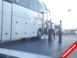 Otobüs Şoförleri Tekme Tokat Birbirine Girdi