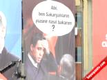 Başbakan'ın Mitinginde Hakan Şükür Pankartı