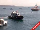 Cankurtaran'da gemi tekneye çarptı