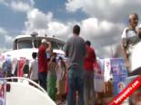 Vatandaşlar Gemilerle AK Parti Mitingine Akın Etti