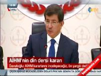 Davutoğlu'ndan 'din dersi' açıklaması