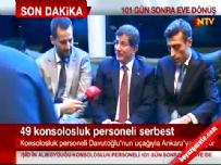 irak konsoloslugu - Kurtarılan 49 Rehine İle İlgili Başbakan Ahmet Davutoğlu Açıklaması