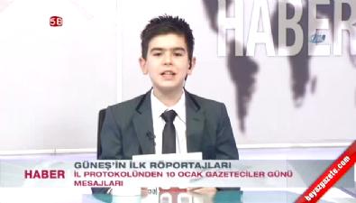 İsmail Güneş'in 11 Yaşındaki Oğlu Haber Sundu