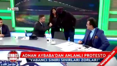 Adnan Aybaba TFF'yi böyle protesto etti