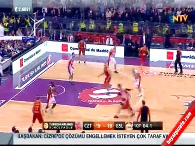 Galatasaray Liv Hospital Kızılyıldız: 74-65 Euroleague Basketbol Maç Özeti (16 Ocak 2015)