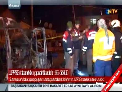 Samsun'da Katliam Gibi Kaza.. LGP Tankı ile Minibüs Çarpıştı: 6 Ölü, 5 Yaralı