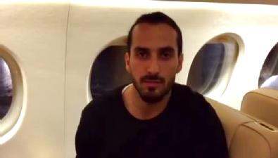 Erkan Zengin ilk mesajını uçakta verdi