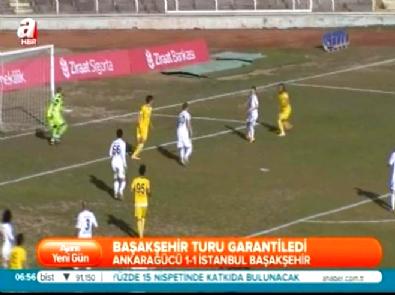 Ankaragücü İstanbul Başakşehir: 1-1 Türkiye Kupası Maç Özeti (27 Ocak 2015)