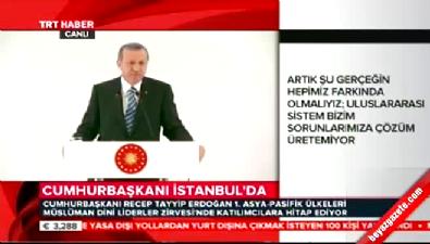 Erdoğan, Müslüman Dini Liderler Zirvesi kapanış oturumunda konuştu