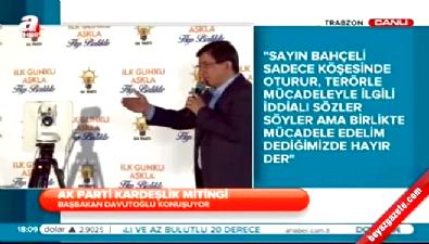 Davutoğlu Trabzon'da konuştu