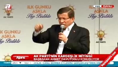Başbakan Davutoğlu AK Parti Van mitinginde konuştu...