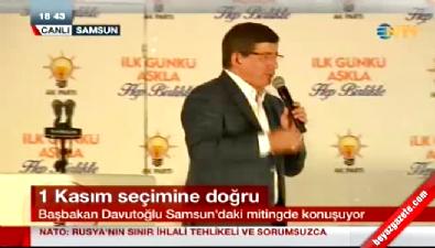 Başbakan Davutoğlu Samsun'daki mitingde konuştu