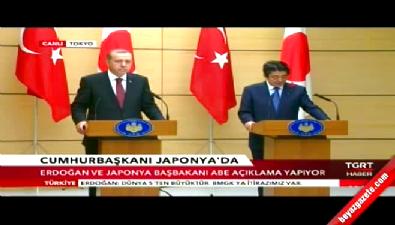 Cumhurbaşkanı, Japon Başbakanı İle Ortak Basın Açıklaması