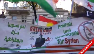 Esad Viyana'da protesto edildi