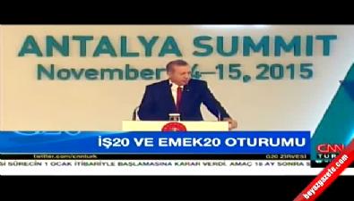 Cumhurbaşkanı G-20'de konuşuyor