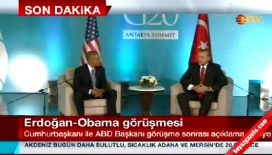 Obama ve Erdoğan'dan ortak açıklama: DAEŞ ile mücadeleyi konuştuk