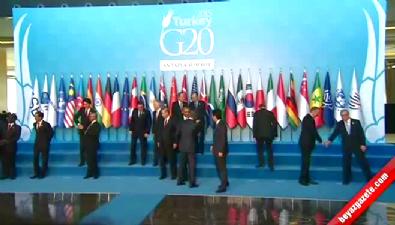 G-20 Liderleri Toplu Fotoğraf Çekildi