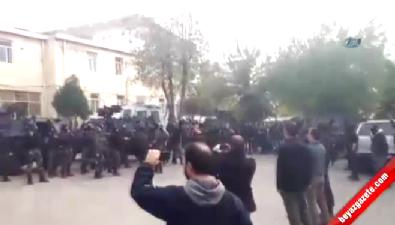 Özel harekat polisleri tekbir sesleri ile gövde gösterisi yaptı