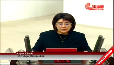 Leyla Zana Meclisi karıştırdı